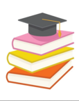 stack of three books with graduation cap